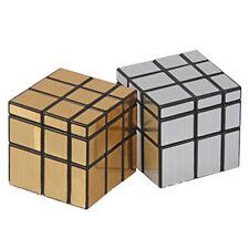 Gold/Silver 3x3x3 Magic Cube Puzzle Ruler Mirror Intelligence Twist Best Kid Toy