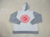 Detroit Red Wings Sweater Adult 2XL XXL Gray Red NHL Hockey Hoodie Mens