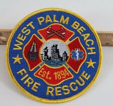 West Palm Beach Fire and Rescue Round Embroidered Patch