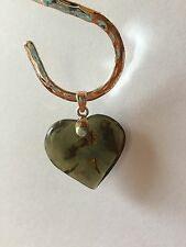 Blue Amber Heart Pendant on Sterling Silver by BleuVerd Group
