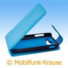 Flip Case Etui Handytasche Tasche Hülle f. Samsung Galaxy Pocket 2 (Türkis)