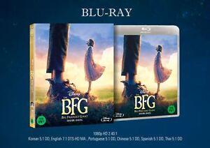The BFG : The Big Friendly Giant (2017, Blu-ray) Slip Case / Korean Edition