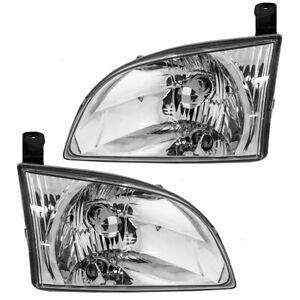 Fits Toyota Sienna Van Set of Headlights Headlamps 81150-08020 81110-08020