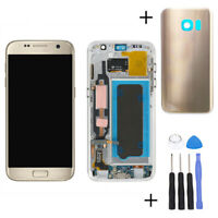 For Samsung Galaxy S7 G930F Amoled LCD Display Touch screen Digitizer Frame Gold