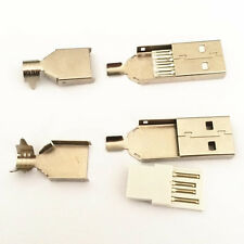 10x USB2.0 Type-A Male Connector Jack Plug For Replacement Repair Solder