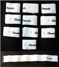 10 x Kabelklettband 50cm x 50mm in weiss Klett-Kabelbinder mit Öse