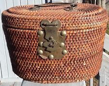1860 Vintage Chinese Travel Picnic Basket OBO