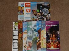12 New Disney World & Universal Studios Park Maps (w/Pandora map) + Disney Info