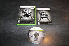 JEU XBOX 360 GUITAR HERO COMPLET ACTIVISION OCCASION VERSION US