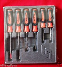 Snap On SGDX60B Screwdriver Set Orange Soft Grip Combination 6 Pc. Set Brand New
