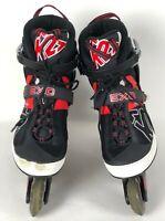 K2 Exo Tech Inline Skates Roller Blades Soft Boot Black Red Mens 13
