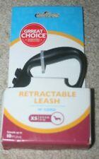 NEW Grreat Choice Retractable Leash XS 10ft Cord Black