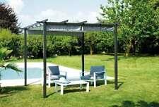 Pergola da giardino quadrata 3 x 3 metri con copertura apribile e scorrevole