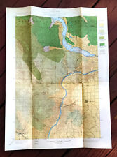1900 Map of Chelan Quad Washington Timber Wapato I. Reservation Columbia River