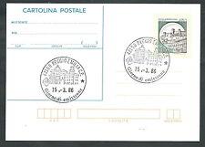 1986 ITALIA CARTOLINA POSTALE CASTELLO DI SPOLETO 450 LIRE FDC - 3