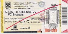 Sammler Used Ticket / Entrada K.Sint Truidense VV v FC Brussels 01-03-2008