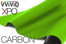 XPO Dry Lime Green Carbon Fiber 5' x 5' car wrap decal vvivid Vinyl film sticker