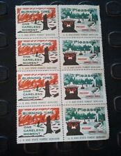 (8) Smokey the Bear Poster Stamps 8 Total Nice find
