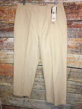 NWT Lauren Ralph Lauren ankle pants Cotton nylon Casual Career Tan Size 12