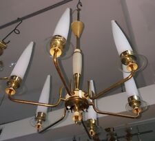 LELLI STILNOVO CHANDELIER  50s 6 LIGHTS STILNOVO/ARTELUCE   40, 50, 60.70