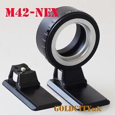 M42 Lens Adapter To Sony NEX E Nex3 Nex5N Nex5T A7 A6000 M42-NEX With Tripod