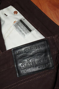"""JEANS LEVIS 511 """"Slim-fit"""" W32 L34 (FR t42) brun foncé"""