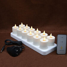 """1.5"""" Luminara  Flickering Real Flame Effect Rechargeable TeaLight Led Candle"""