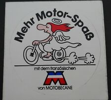 Aufkleber MOTOBECANE Mobylette 70er Mofa Velo Moped Engel Sticker Autocollant