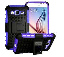 Samsung Galaxy Grand Prime SM-G530W Tough Rugged Hybrid Hard Stand Case-Purple