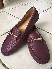 Ralph Lauren Women Caliana Slip-On Loafer Shoes Purple Snake size 8.5B