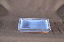 """Bonsai Pot/Tray, Ceramic Humidity Tray, 5"""" Blue Rectangular Shape, Hard To Find!"""