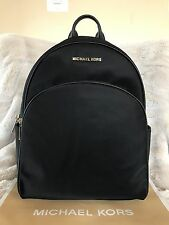 NWT MICHAEL MICHAEL KORS NYLON ABBEY LARGE BACKPACK BAG IN BLACK