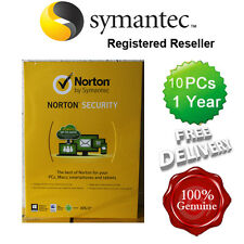 Norton ( Internet ) Security Anti virus All In ONE 10 PCs 1 Year Retail 2015 UK