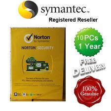 Norton (Internet) de sécurité anti virus tout en un 10 pcs 1 an au détail 2015 UK