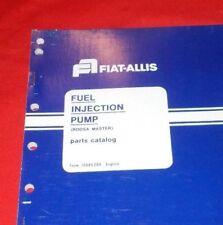 Fiat Allis (Roosa Master)  Fuel Injection Pump Parts Catalog  70685399