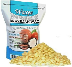 Brazilian film hard wax stripless TOTAL BODY waxing beans beads pellets HOT 800g