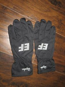RAPHA EF Education First Pro Cycling Team Rain Gloves Full Finger Black Medium M