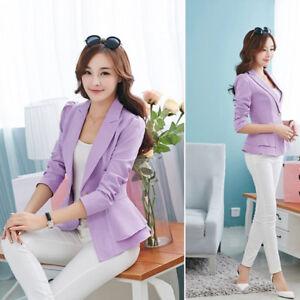 FASHION JACKET WOMEN Slim OL Suit Casual Blazer Coat Slender Outwear Abrigos XXL