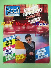 rivista CIAO 2001 10/1984 Enrico Ruggeri David Byrne Patty Pravo AC/DC Lio No cd