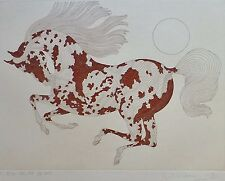 """Guillaume Azoulay """" Painted """" horse M.E.2/25 HAND SIGNED ETCHING Moroccan Artist"""