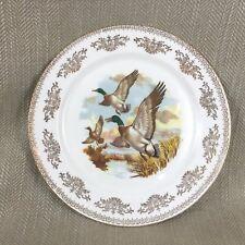 Vintage English Bone China Wall Plate Mallard Flying Ducks Porcelain