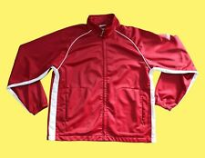 New Balance Mens Med Vintage Red White Striped Track Jacket Excellent Condition