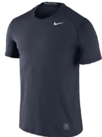 Men's Nike Team Pro Cool Dri Fitted Short Sleeve Top 728066-419 Navy NEW Shirt