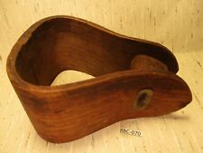 Rare 1800's Wooden Hand Made Wooden OAK Side Saddle Small Single Stirrup