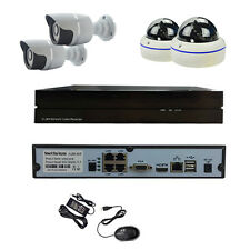 HJT 4CH POE Camera System HD 960P CCTV In/ Outdoor Security NVR IR Cut Night P2P