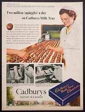 CADBURY'S MILK TRAY - Vintage Colour Full Page Magazine Advert (1954) *
