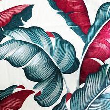 Hawaiian Barkcloth BIG FRONDS on Ivory  Leaves Retro Tiki Drape Drapery Fabric