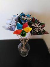 fleurs décoration cadeau mariage fête origami unique papier wax, partitions