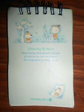 Vintage Morning Glory Chitchy & Nari Mini Blue Spiral Notepad