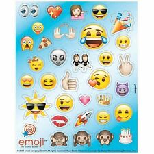 136 Emoji Stickers Party Bag Fillers 4 Sheets of 34